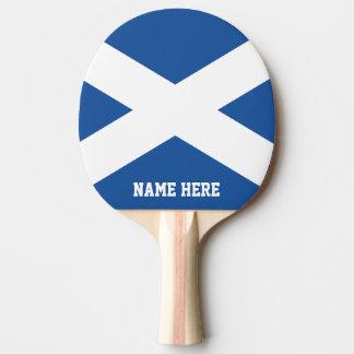 Scottish flag custom table tennis ping pong paddle