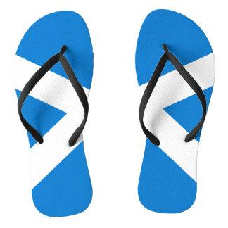 Scottish flag flip flops