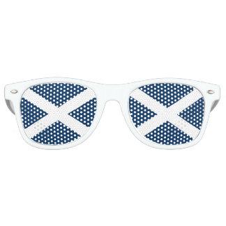 Scottish Flag Fun White Glasses