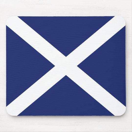 Scottish Flag Mouse Mat in Dark Blue