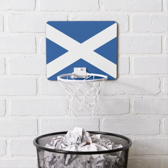 Scottish flag of Scotland mini basketball hoop