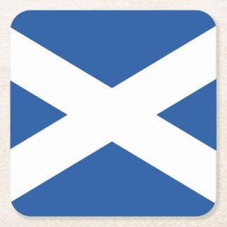 Scottish flag of Scotland paper drink coasters
