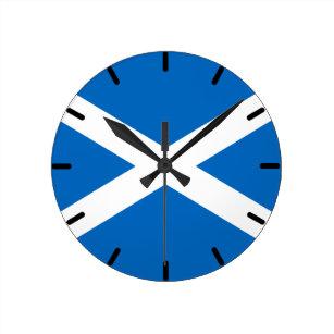 Scottish Flag of Scotland Saint Andrew's Cross Sal Round Clock