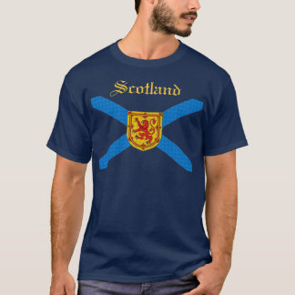 Scottish Flag Scotland Rampant Lion Customized T-Shirt