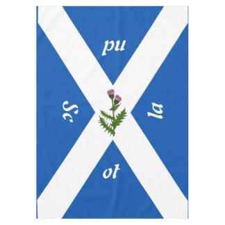 Scottish flag tablecloth