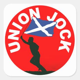 "Scottish flag, ""Union Jock"" Square Sticker"