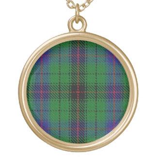 Scottish Flair Clan Davidson Tartan Gold Plated Necklace