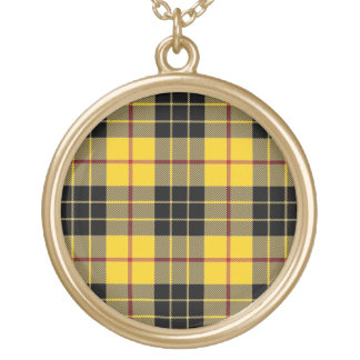Scottish Flair Clan MacLeod of Lewis Tartan Gold Plated Necklace