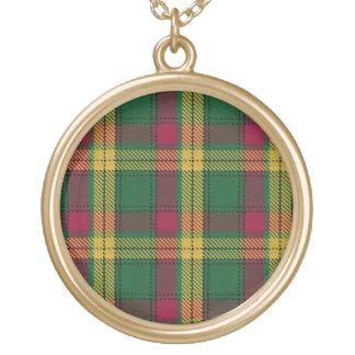 Scottish Flair Clan MacMillan Tartan Gold Plated Necklace