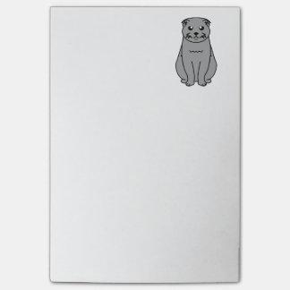 Scottish Fold Cat Cartoon Post-it Notes