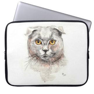 Scottish Fold Cat Laptop Sleeve