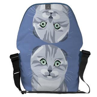 Scottish Fold Cat Messenger Bag Stock market Stock