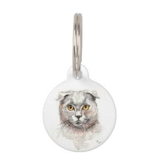Scottish Fold Cat Pet ID Tag