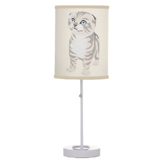 Scottish Fold Kitten Lamp Abajur Lamp