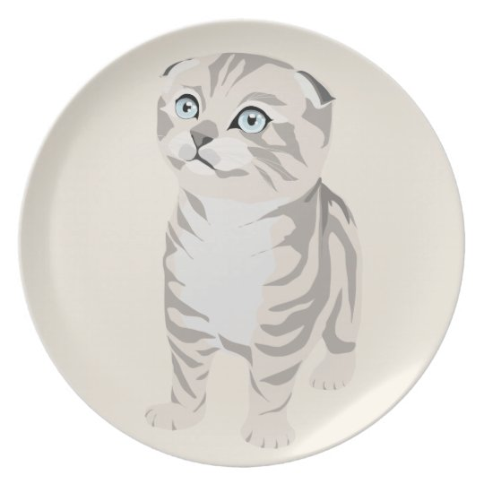 Scottish Fold Kitten Plate Dish Plate