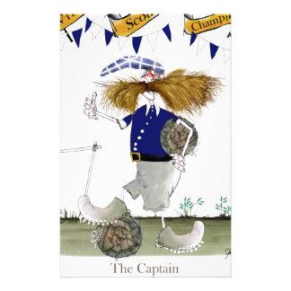 scottish football captain stationery
