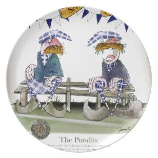 scottish football pundits plate