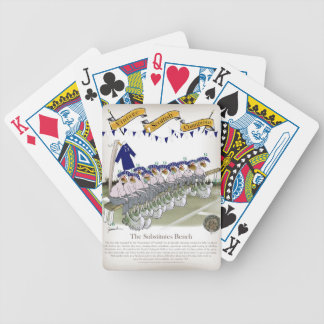 scottish football substitutes bicycle playing cards