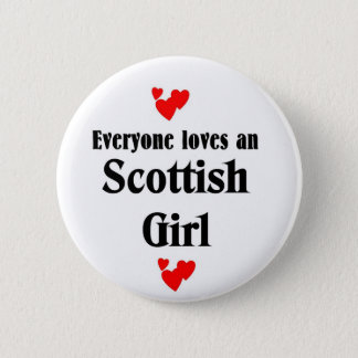 Scottish girl 2 inch round button