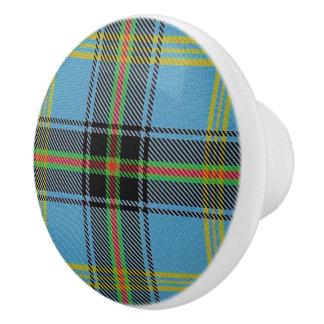 Scottish Grandeur Clan Bell Tartan Plaid Ceramic Knob