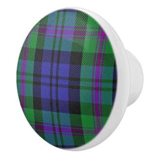 Scottish Grandeur Clan Blair Tartan Plaid Ceramic Knob