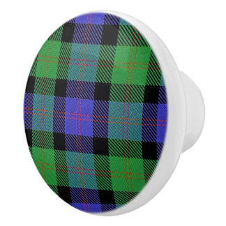 Scottish Grandeur Clan Blair Tartan Plaid Ceramic Knob