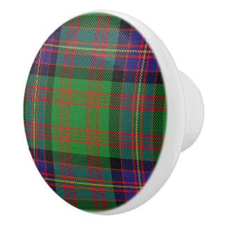 Scottish Grandeur Clan Cochrane Tartan Plaid Ceramic Knob