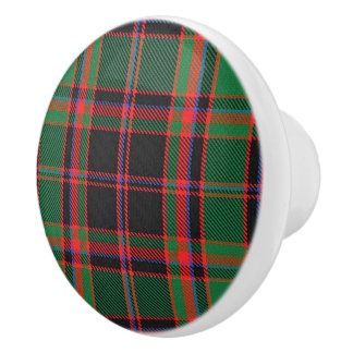 Scottish Grandeur Clan Cumming Hunting Tartan Ceramic Knob