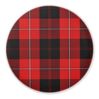 Scottish Grandeur Clan Cunningham Tartan Plaid Ceramic Knob