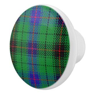 Scottish Grandeur Clan Davidson Tartan Plaid Ceramic Knob