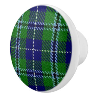Scottish Grandeur Clan Douglas Tartan Plaid Ceramic Knob