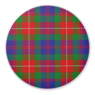 Scottish Grandeur Clan Fraser of Lovat Tartan Ceramic Knob