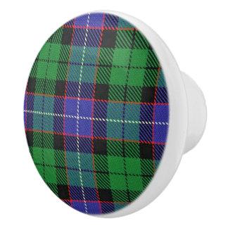 Scottish Grandeur Clan Galbraith Tartan Plaid Ceramic Knob
