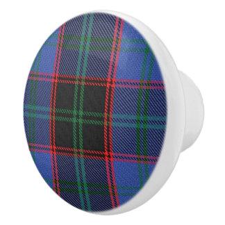 Scottish Grandeur Clan Home Hume Tartan Plaid Ceramic Knob