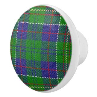 Scottish Grandeur Clan Hunter Tartan Plaid Ceramic Knob