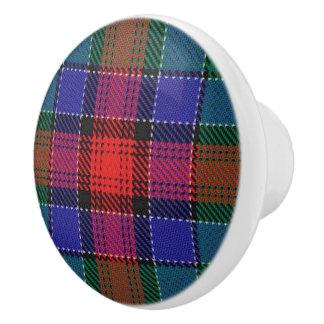 Scottish Grandeur Clan Jardine Tartan Plaid Ceramic Knob