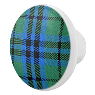 Scottish Grandeur Clan Keith Tartan Plaid Ceramic Knob