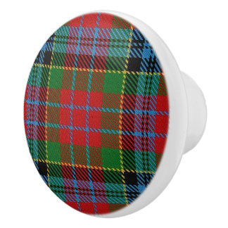 Scottish Grandeur Clan Kidd Tartan Plaid Ceramic Knob