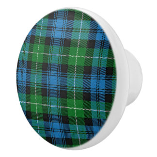 Scottish Grandeur Clan Lamont Tartan Plaid Ceramic Knob