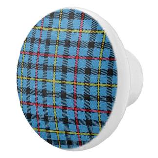 Scottish Grandeur Clan MacCrimmon Tartan Plaid Ceramic Knob