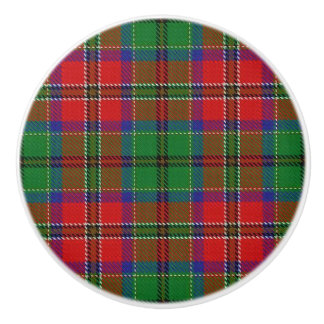 Scottish Grandeur Clan MacCulloch Tartan Plaid Ceramic Knob