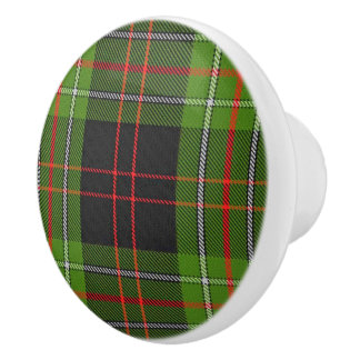 Scottish Grandeur Clan MacDiarmid Tartan Plaid Ceramic Knob