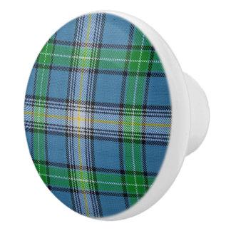 Scottish Grandeur Clan MacDowall Tartan Plaid Ceramic Knob