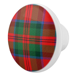 Scottish Grandeur Clan MacDuff Tartan Plaid Ceramic Knob