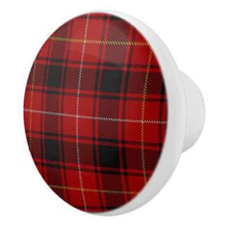 Scottish Grandeur Clan MacIver Tartan Plaid Ceramic Knob