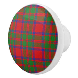 Scottish Grandeur Clan MacKintosh Tartan Plaid Ceramic Knob