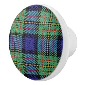Scottish Grandeur Clan MacLaren Tartan Plaid Ceramic Knob