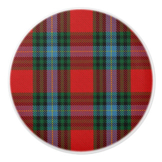 Scottish Grandeur Clan MacLea Tartan Plaid Ceramic Knob
