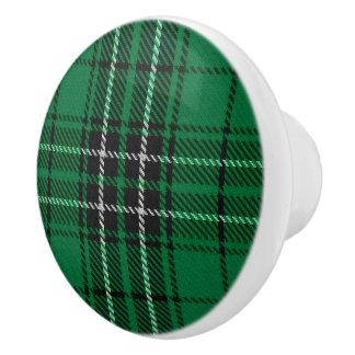 Scottish Grandeur Clan MacLean Hunting Tartan Ceramic Knob
