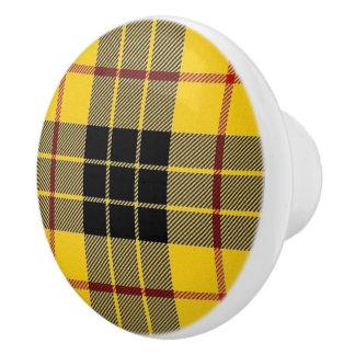 Scottish Grandeur Clan MacLeod Tartan Plaid Ceramic Knob